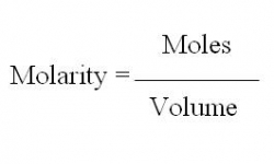 Chemestry 11 Lessons: Molar Concentration or Molarity