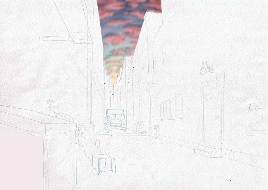 Joshua Flynn Background Designs- Stage Door/ Alleyway - mail background