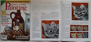 Primitive Cat Paintings--October 2010 issue of Quick and Easy Painting