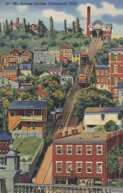 The Daily Postcard Mount Adams Incline Cincinnati Ohio