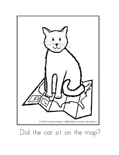 Andrea Hazard Children's Books: Did the Cat Sit? coloring page