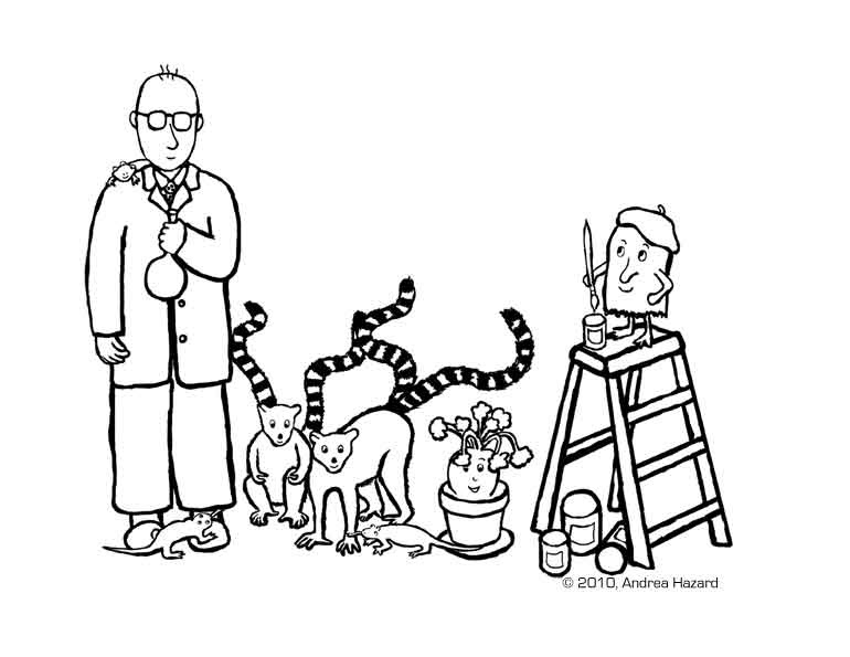 Andrea Hazard Children's Books: Professor Madd coloring page