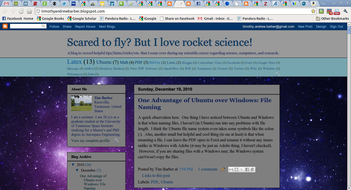 Scared to fly? But I love rocket science!: Blogger Tips