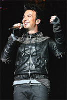 Tarkan's jacket specially designed by London resident, Turkish designer Ceyda Balaban