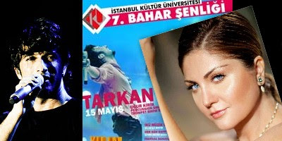 Press Updates Banner, Tarkan at Kültür University's Spring Festivities, Female singer Sibel Can