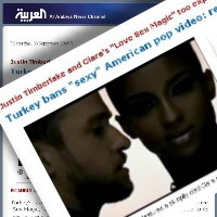 Al Arabiya's report on Turkey banning Justin Timberlake's music video