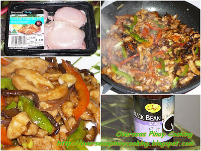 Chicken Stirfry with Black Fungus in Black Bean Sauce - Cooking Procedure