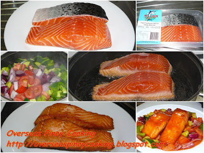 Sweet and Sour Tasmanian Salmon - Cooking Procedure
