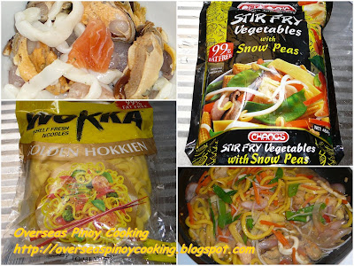 Seafood Hokien Noodles Stirfry - Cooking Procedure