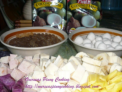 Ginataang Halo-Halo - Ingredients