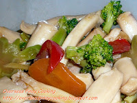 Squid and Broccoli with Oyster Sauce