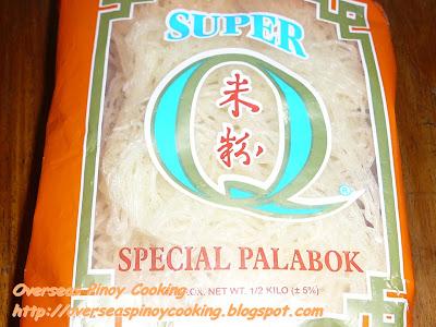 Pansit Palabok, Pansit Luglog - Bihon Noodles
