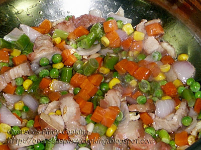 Yang Chow Fried Rice - Cooking Procedure