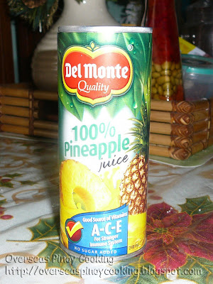 unsweetened pineapple juice