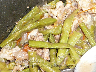 String Beans with Beef - Cooking Procedure