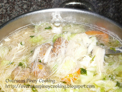 Meatballs with Patula and Misua Soup - Cooking Procedure