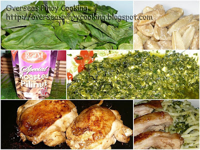 Pili Nut Pesto Spaghetti with Chicken Barbecue - Gallery