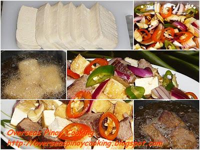 Tokwa't Baka - Cooking Procedure