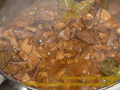 Dinaldalem, Pork Liver in Vinegar and Soy Sauce - Cooking Procedure