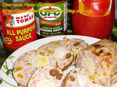 Chicken Embutido - with Banana Ketchup