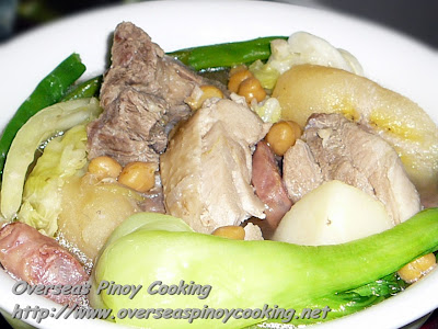 Pinoy Puchero, Pochero with Eggplant Sauce