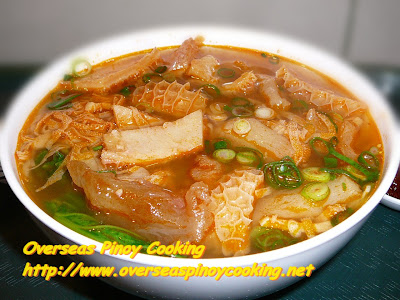 Spicy Tendon and Tripe Noodle Soup