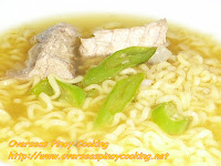 Instant Noodle Soup with Canned Salmon