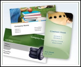 business postcards and business cards
