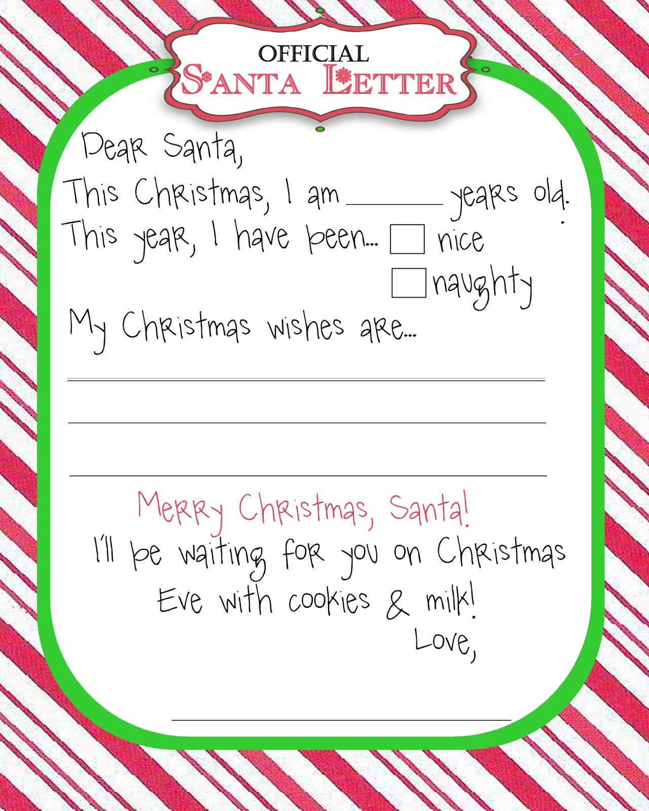 Moo Moo S Amp Tutus Manic Monday Freebie Santa Letter