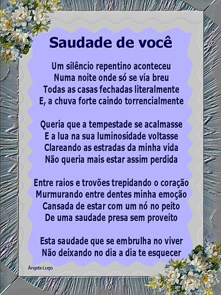 SAUDADE DE VOCÊ