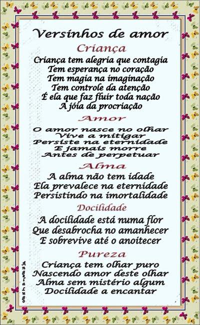 VERSINHOS DE AMOR