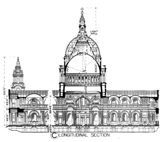 Christopher Wren's plans for the dome of St. Paul's