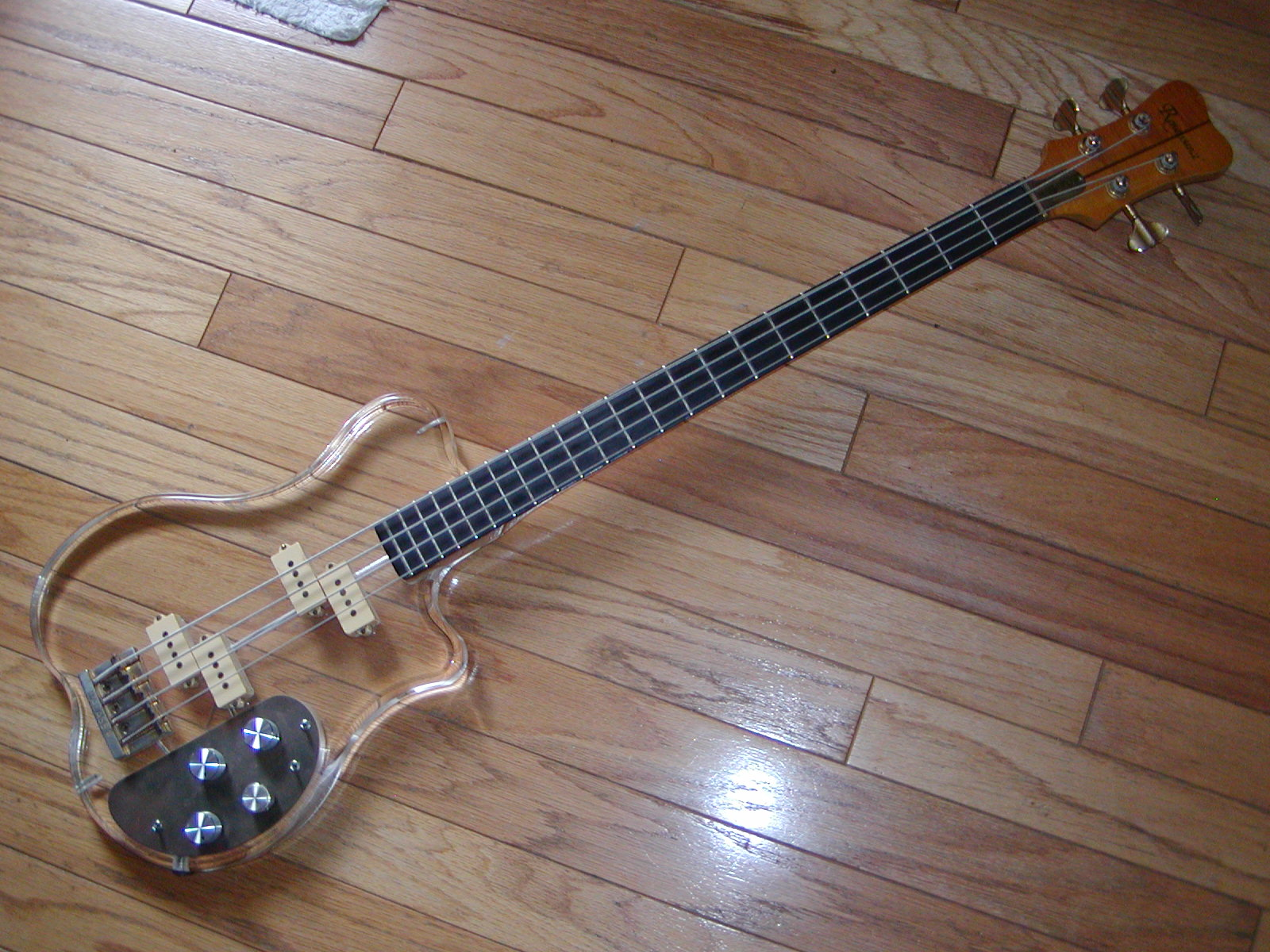 Cool Guitars The Renaissance Acrylic See Through Bass Guitar