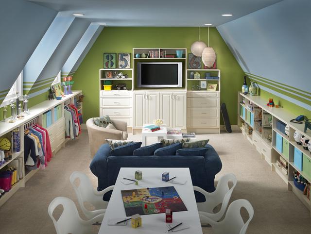 ideas for children's small attic playrooms - Momma Mia Playroom Organization Ideas