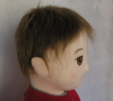 人形にかぶせる