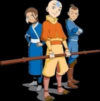 Aang and his friends from the Water tribe - Last Airbender