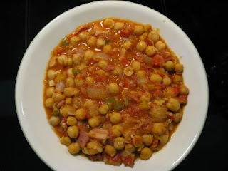 Curry hindú de garbanzos