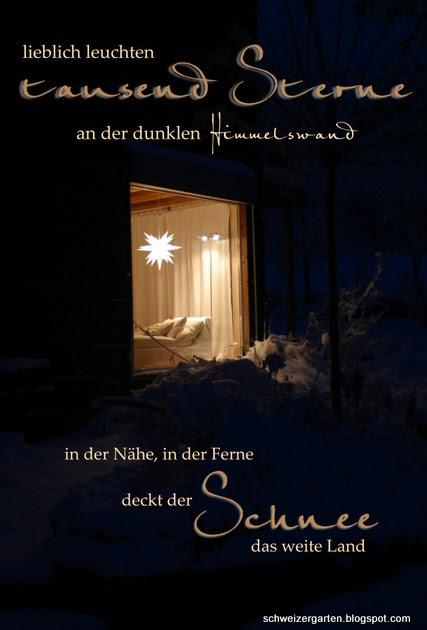 ein schweizer garten weihnachtsgr sse. Black Bedroom Furniture Sets. Home Design Ideas