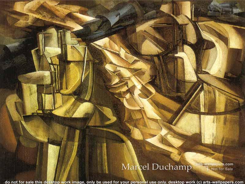 Comparing artworks of marcel duchamp
