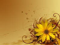 yellow theme Flower abstract design wallpaper