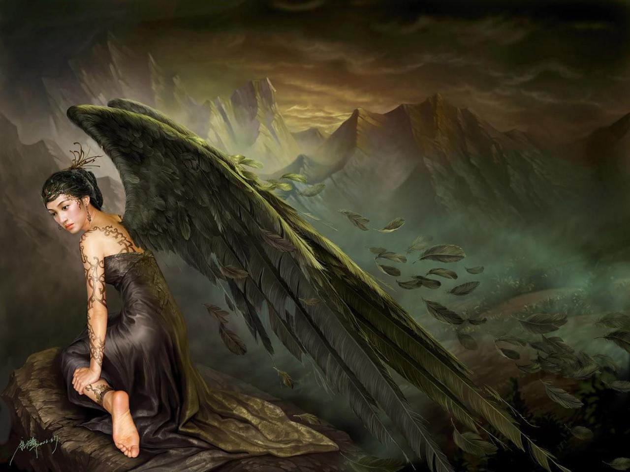 sexy fallen male angels wallpaper - photo #42