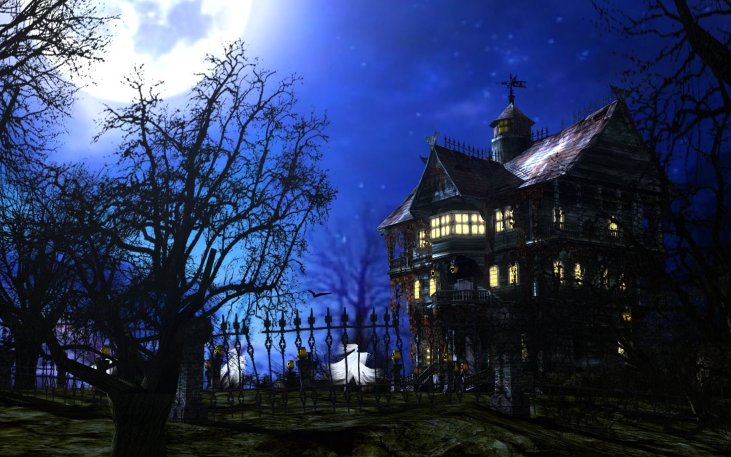 Beautiful Wallpapers Of Lonely Girl Horror Ghost Houses Wallpapers Hq Image Size 1440x900