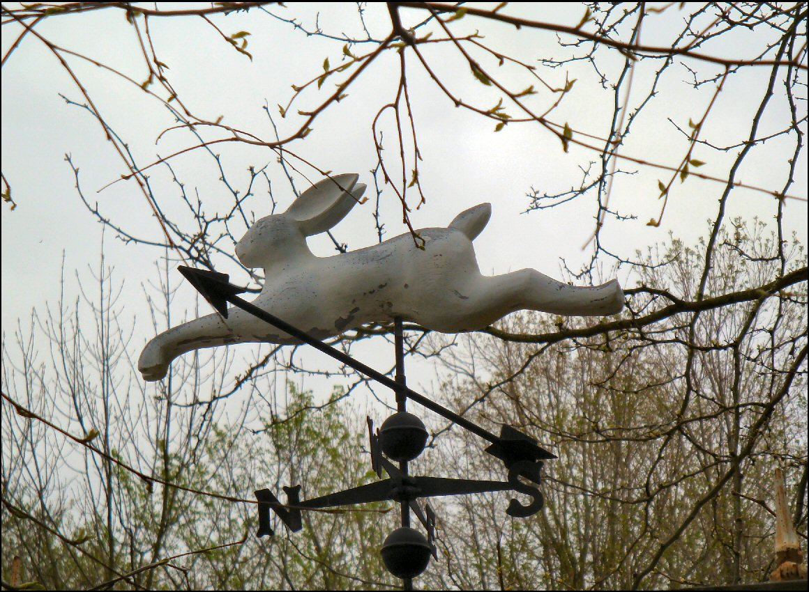 rabbit weather vane flying rabbit photo image