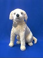 life size yellow lab puppy plush stuffed animal toy