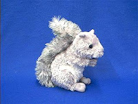 gray squirrel plush stuffed animal
