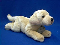yellow lab dog plush stuffed animal