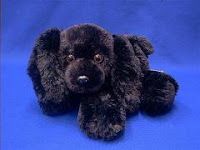 black cocker spaniel plush stuffed animal toy