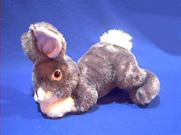 silver rabbit plush stuffed animal hope