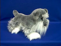 schnauzer plush stuffed animal douglas