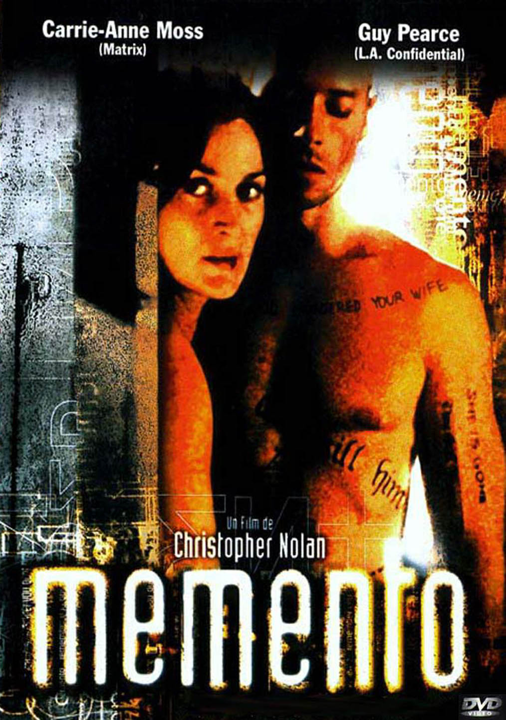 memento 2000 film nolan christopher he 2002 pelicula movies tattoos last sin revealing poster short chris cristopher loss